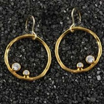 Double Stone Twiggy Ring Earring