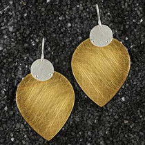 Large Drop and Disc Earring