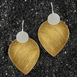 Large Drop and Disc Earring (e-u605)