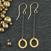Tiny Oval Chain Drop Earring