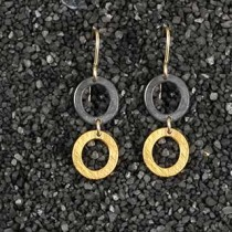 Double Tiny Oval Earring