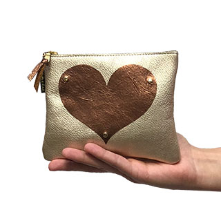 Monroe Leather Pouch: Applique (l-2dla)