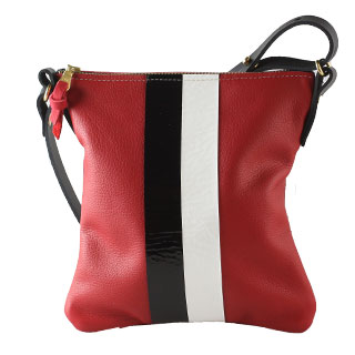 Bennett Leather Crossbody w 2stripes (l-92dm-2stripe)