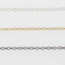 Plain Larger Loop Chain Necklace