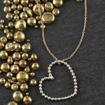 Large Beaded Heart Necklace
