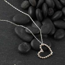 Small Beaded Heart Necklace