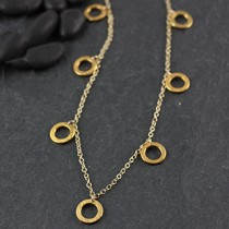 7 Brushed Ring Necklace