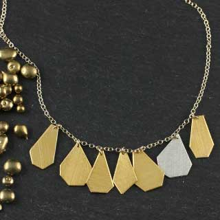 7 Crazy Cut Necklace: All Metal (n-cc07)