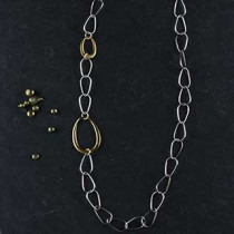 Chain and Eggs Long Necklace