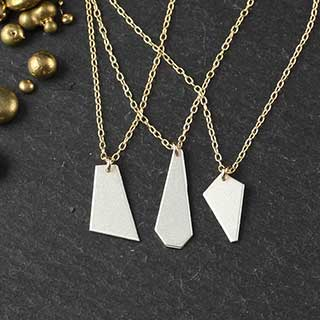 Three Small Crazy Cut Necklaces (n-cj-set3)