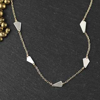 Five Linked Crazy Cut Necklace (n-cj05)