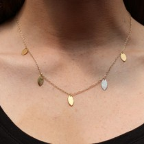 5 Marquise Dangle Necklace