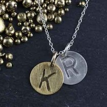 Embossed 2 Disc Necklace