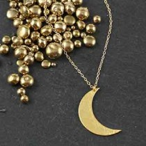 Med Flat Crescent Moon Necklace