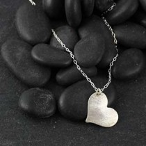 Medium Heart Charm Necklace