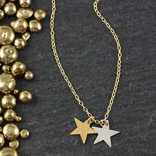 Two Sm Star Necklace (n-fss4)