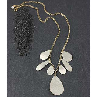 Multi Flat Tear Necklace (n-ft07)