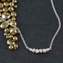 Mixed Faceted Bead Necklace