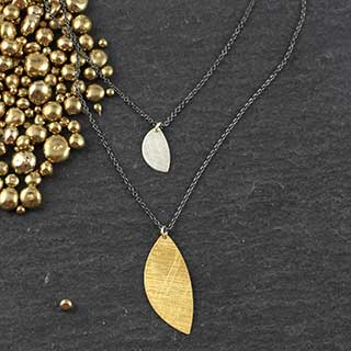 Double Half Moon Necklace (n-hm29)