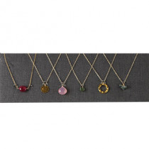 Set of 6 Pink and Green Necklaces - as shown