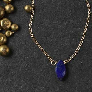 Lapis Marquise Necklace (n-lae0)