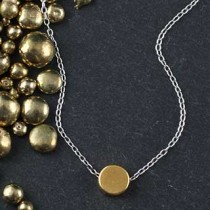 Plated Mini Slider Necklace - disc