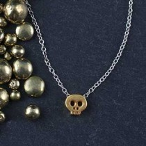 Plated Mini Slider Necklace - skull
