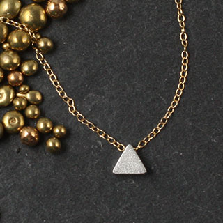 Plated Mini Slider Necklace - triangle (n-mint)