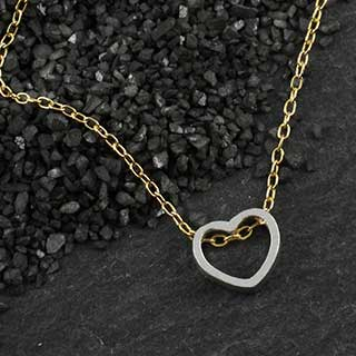 Mini Open Heart Slider Necklace (n-mioh)