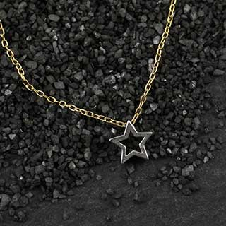 Mini Open Star Slider Necklace (n-mios)