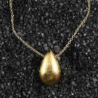Large Teardrop Necklace (n-mlt0)