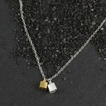 Double Microcube Necklace