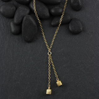 Faux Lariat Microcube Necklace (n-mmc3)