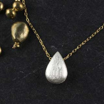 Tiny Tear Threaded Necklace