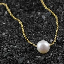 Threaded Pearl Necklace: Small