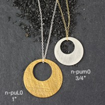 Md Punched Disc Necklace