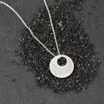 Small Punched Disc Necklace
