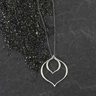 Dbl Pointed Ovoid Necklace (n-pv31)
