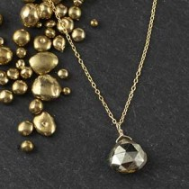 Wide Pyrite Briolette Necklace