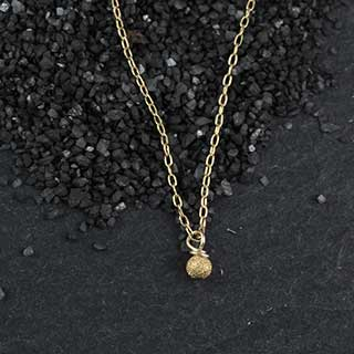 Tiny Stardust Round Necklace (n-rt01)