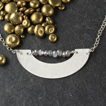 Shallow U and Labradorite Collar Necklace