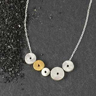 "5 ""O""s Necklace (n-sp05)"
