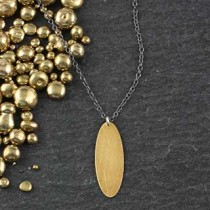 Skinny Oval Necklace #2
