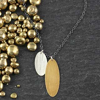 Double Skinny Oval Necklace (n-sv22)