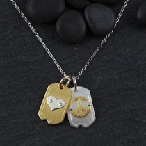 Sm Dog Tag Icon Necklace