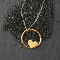 Lg Twiggy Ring with Heart Necklace