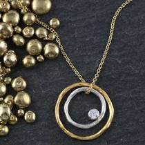Concentric Rings Twiggy Necklace
