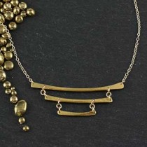 Triple Stacked Stick Necklace
