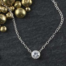 Solitaire Necklace: Small