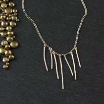 7 Hammered Wire Necklace